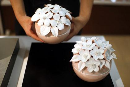 骨壷 ピンク 桜 はなみずき
